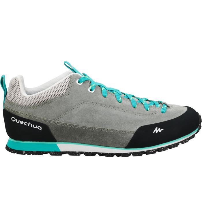 Zapatillas de senderismo en la naturaleza mujer NH500 Gris Verde