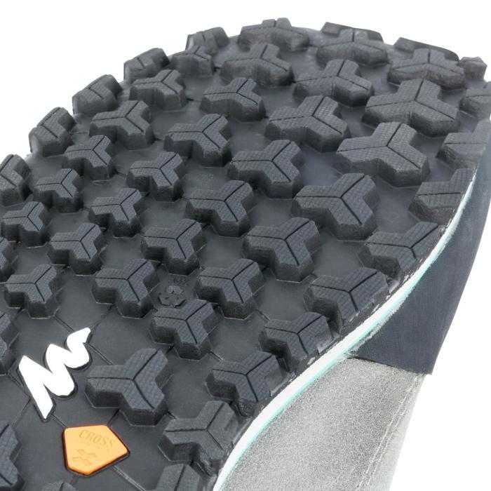 Chaussure de randonnée nature NH500 gris vert femme