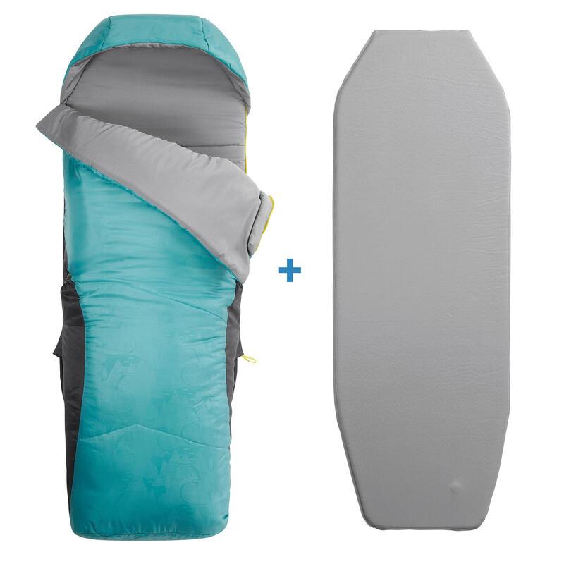 Kids' 2-In-1 Sleeping Bag - Sleepin Bed Junior 10°C L - Blue
