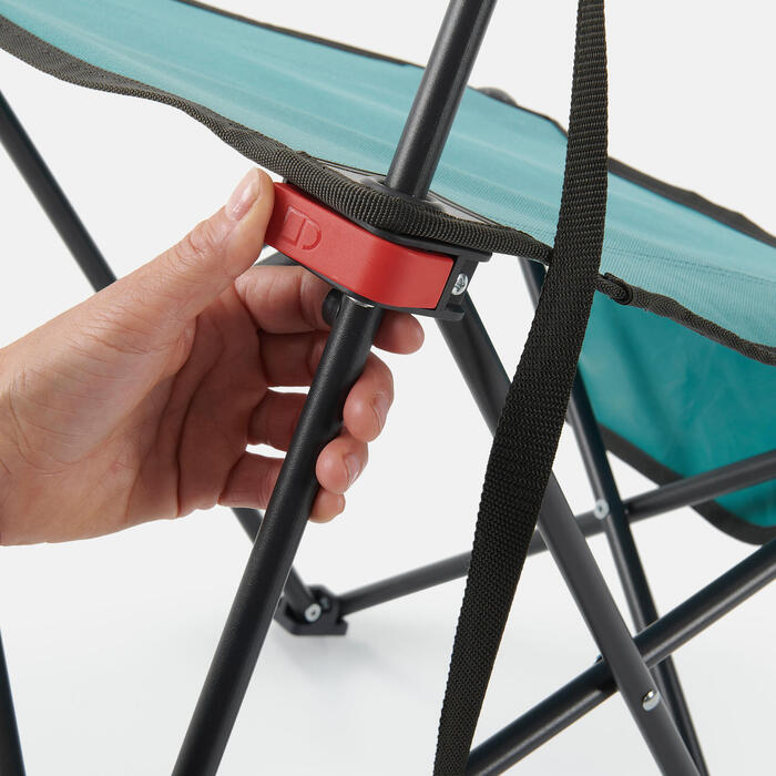 LOW FOLDING CAMPING CHAIR MH100 Blue