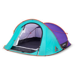 CAMPING TENT 2 SECONDS - LIMITED EDITION PURPLE - 3 PEOPLE