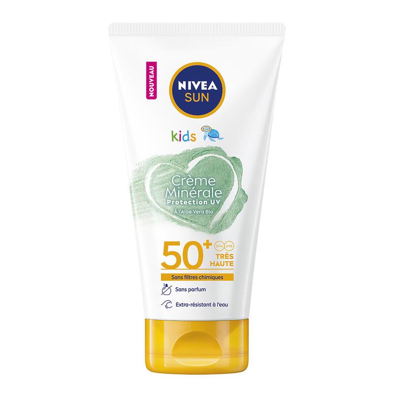 Protection solaire aux filtres minéraux NIVEA SPF50 KIDS 150ML