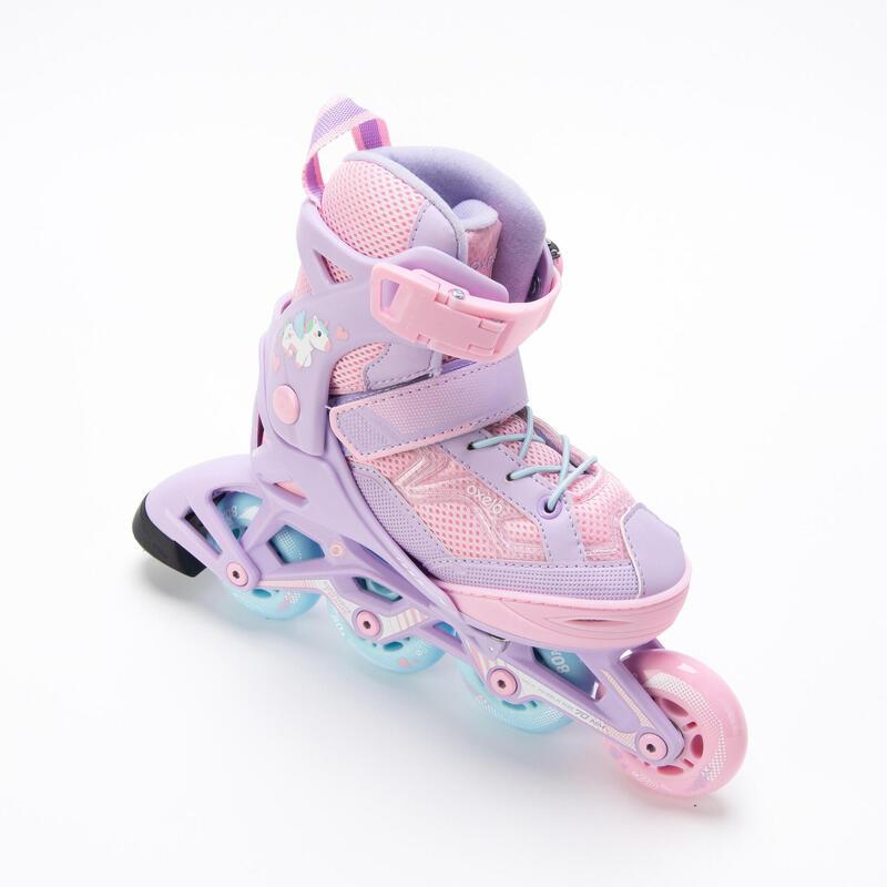 Fit 3 Kids' Inline Skates (4 Adjustable Sizes) - Light Purple