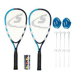 Conjunto de 2 raquetes, volantes e campo de Speedminton S65+