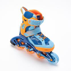 直排輪FIT3 - 橘色/藍色