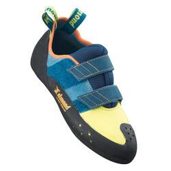 Klimschoenen met klittenband Vertika anijs/blauw