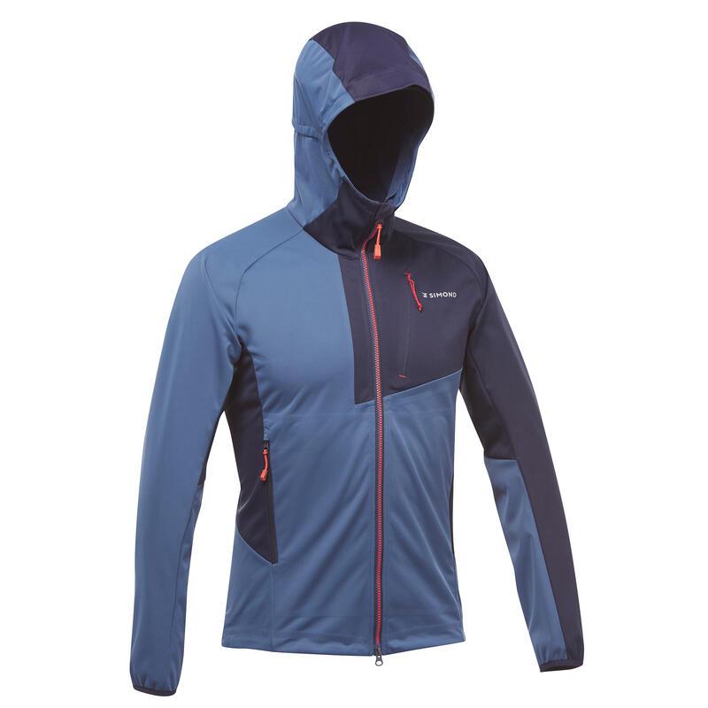 Softshell jas voor bergbeklimmen heren Alpinism Light blauw