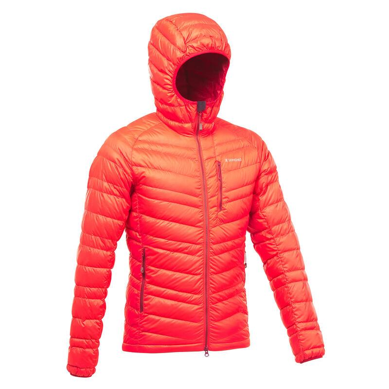 Chaqueta acolchada de plumón Alpinismo Hombre - ALPINISM LIGHT rojo