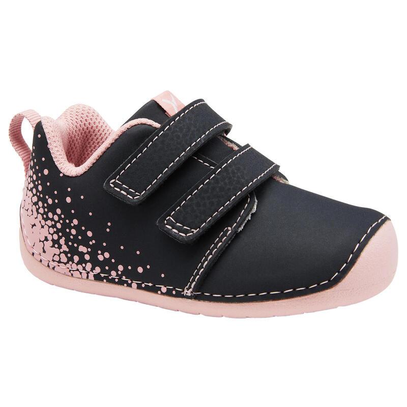 Chaussures bébé I LEARN grise/rose du 20 au 24