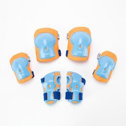 護具3件組Play - 橘色/藍色