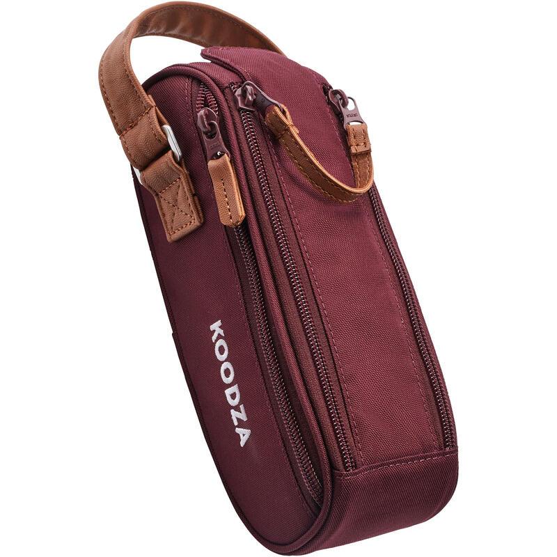 Semi-Rigid Bag for 3 Petanque Boules - Burgundy