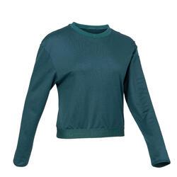 Women's Fitness Cardio Training Sweatshirt 500 - Teal