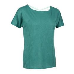 女款有氧健身訓練T恤500 - 綠色