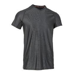 修身剪裁機能健身T恤100 - 雜灰色