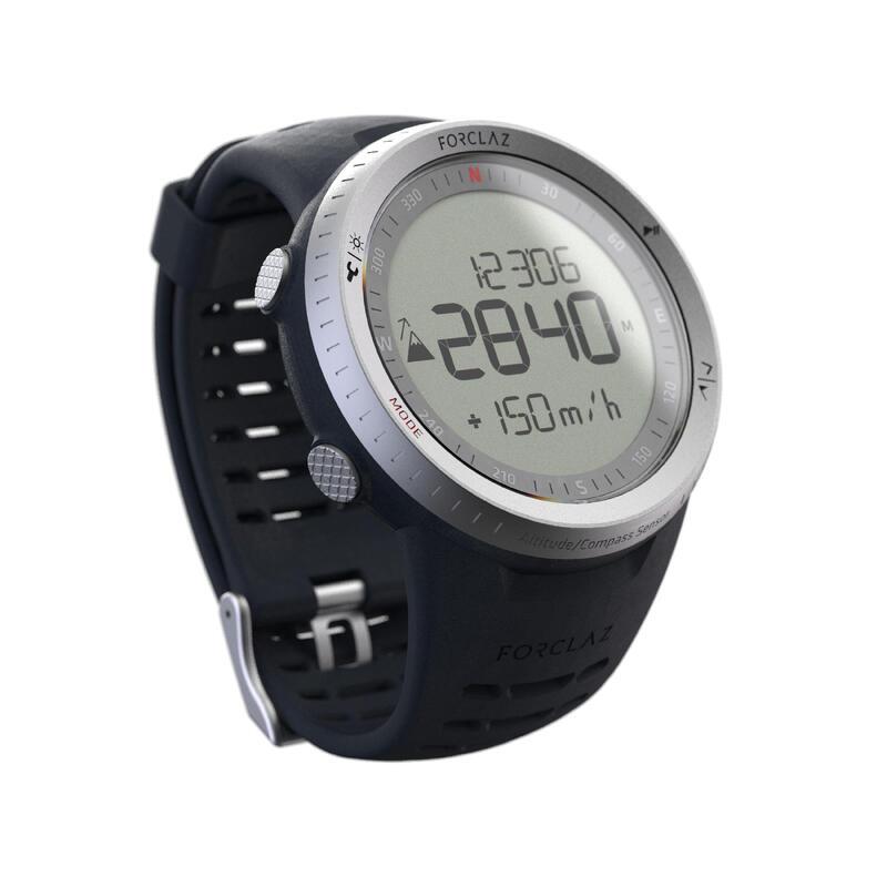 Reloj Altímetro Barómetro de Montaña y Trekking con Brújula MW TREK 900 Plateado