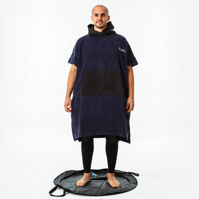 成人款衝浪毛巾衣900-軍藍色