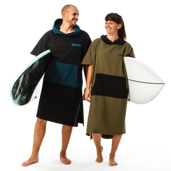 PONCHO SURF 500 ADULTE Kaki