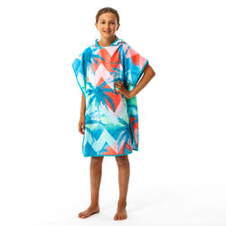 Kids' Surf Poncho 500 (110 to 135 cm) - Sweet