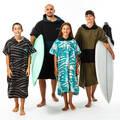 RUČNÍKY A PONČA Surfing a bodyboard - PONČO 500 KHAKI OLAIAN - Obuv, osušky a doplňky k vodě