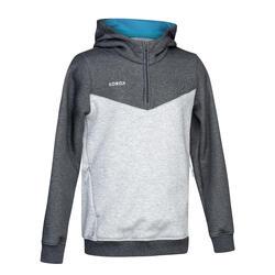 Sweatshirt voor veldhockey kinderen FH500 grijs