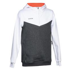 Sweatshirt voor veldhockey meisjes FH500 wit/roze