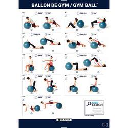 BALLON DE YOGA, GYM BALL TAILLE L BLEU