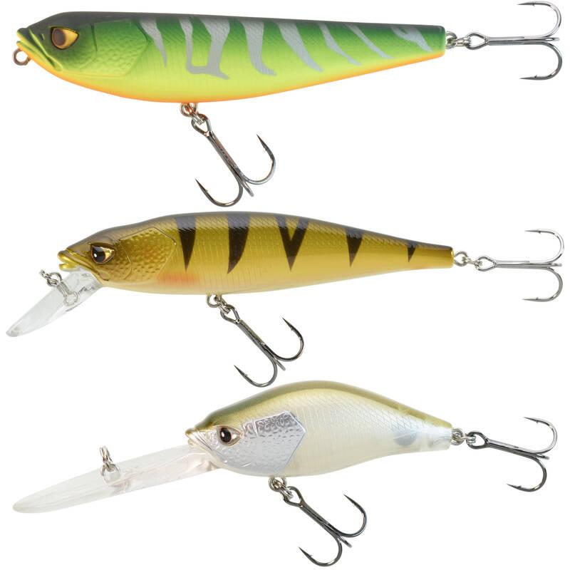 WOBLERY 6 AŽ 10 CM Rybolov - SADA WOBLERŮ KIT3PN CAPERLAN - Návnady a nástrahy na ryby