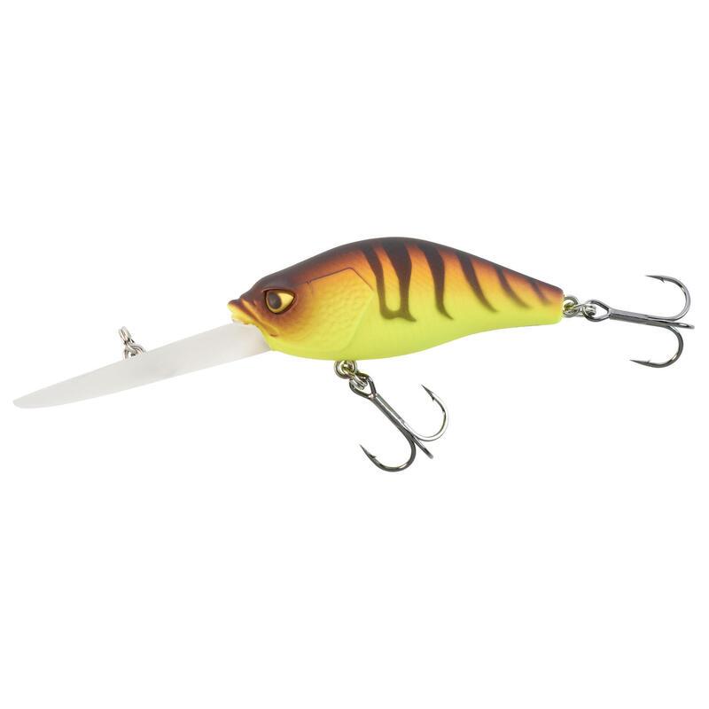 Plug crankbait vissen met kunstaas CRKDD 60 F oranje tiger