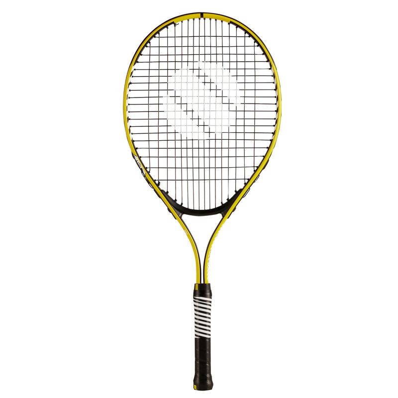 """Tennisracket voor kinderen TR130 25"""" geel"""
