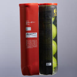 BALLE DE TENNIS TB930 *4 BIPACK JAUNE