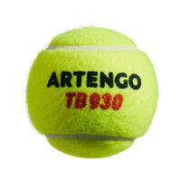 BALLE DE TENNIS  TB930 *4 JAUNE SPEED
