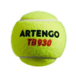 Tennisbälle TB930 4er-Dose Doppelpack gelb