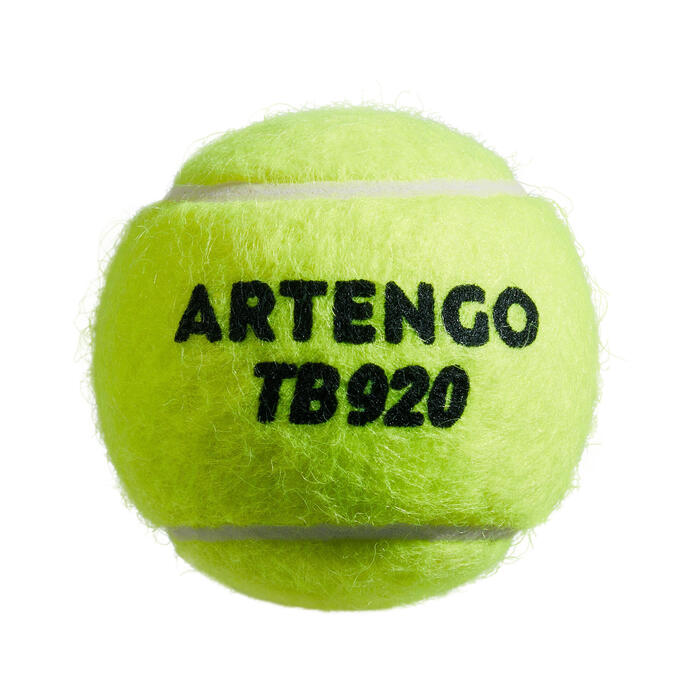 BALLE DE TENNIS POLYVALENTE TB920 *4 JAUNE