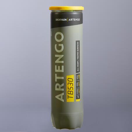 PELOTA DE TENIS TB530 X4 AMARILLO