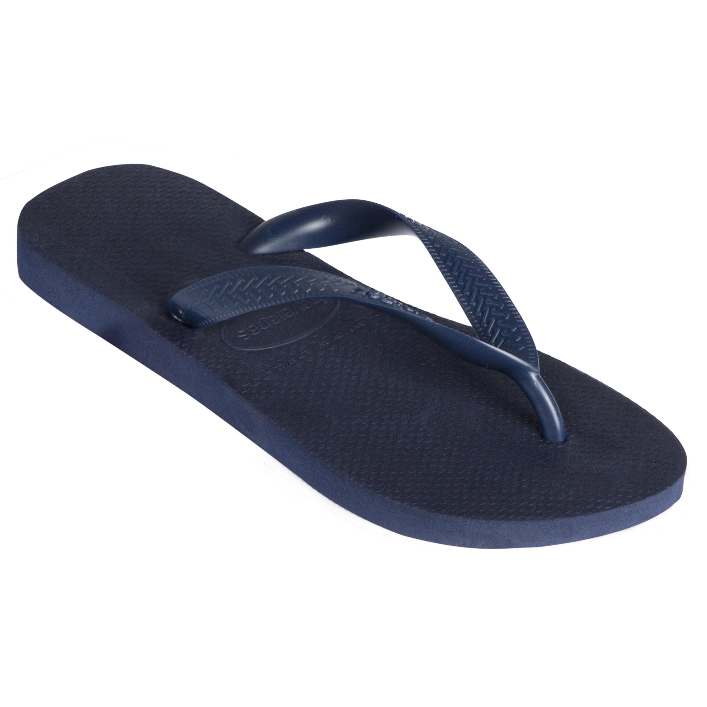 Hommes Havaianas Top nautique Tongs Blanc Bleu Sandales