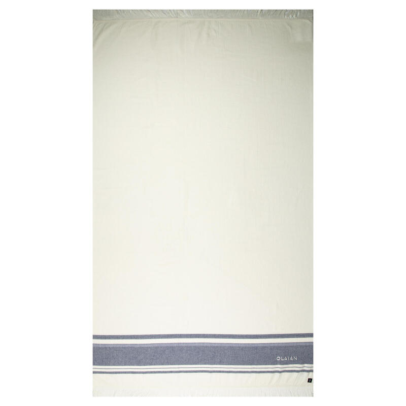 Telo mare FOUTA 170x100 cm avorio-blu