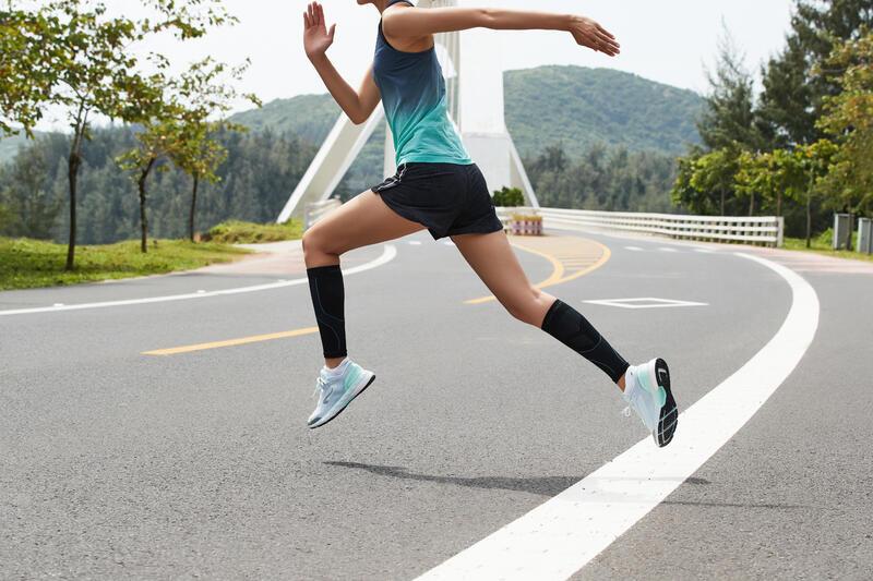 ปลอกขารัดกล้ามเนื้อน่องสำหรับวิ่ง (สีดำ)