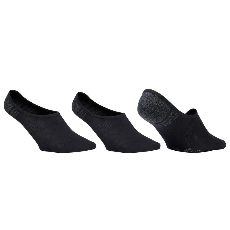 Chaussettes marche sportive/nordique WS 100 Invisible noir (3 paires)