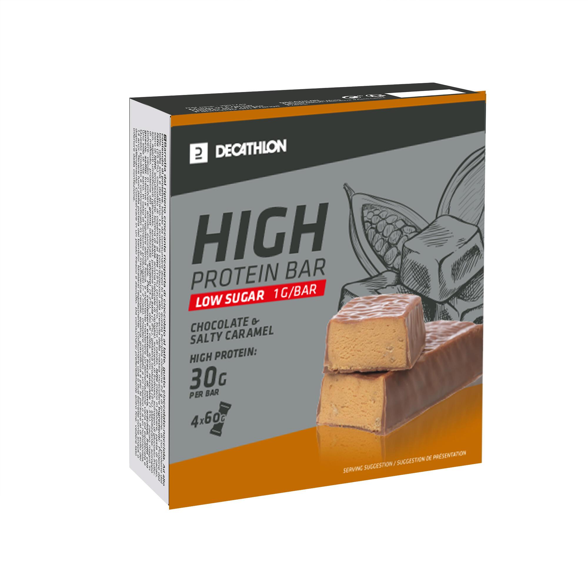 Baton Proteine High Caramel X4 de la DOMYOS