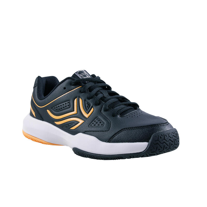 Kids' Lace-Up Tennis Shoes TS530 - Black