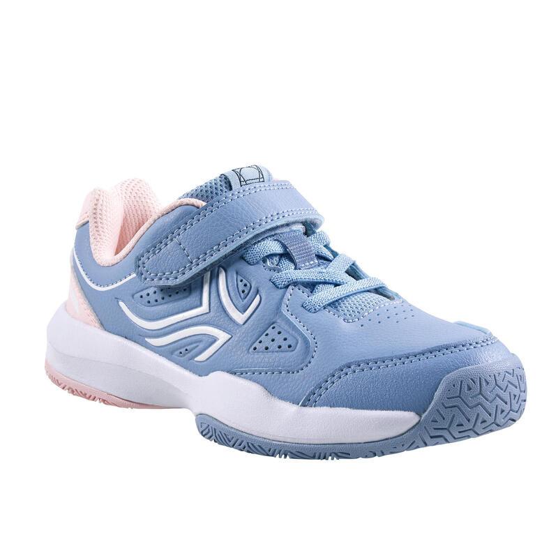 Tennisschoenen voor kinderen TS530 klittenband blauw/roze