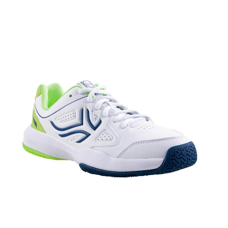 Kids' Lace-Up Tennis Shoes TS530 - White/Yellow