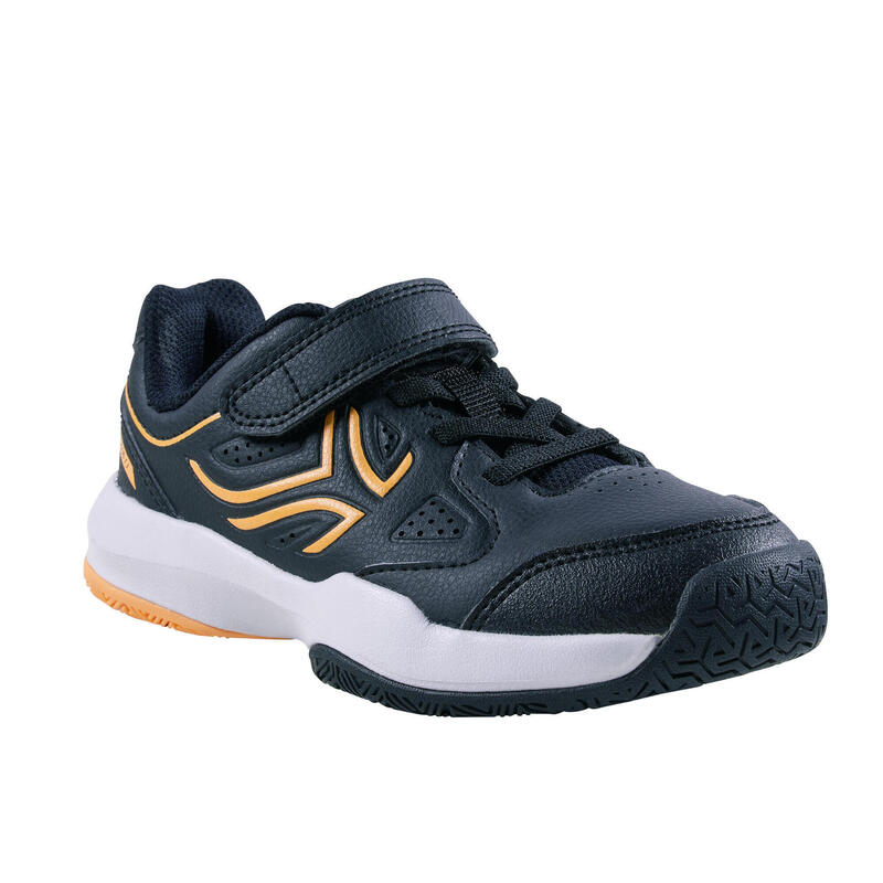 Tennisschoenen voor kinderen TS530 klittenband zwart