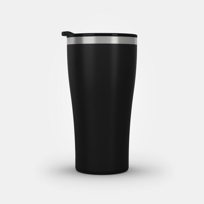 Isothermal Hiker's Camping Cup/Glass (s/steel double wall) MH500 0.5 L Black