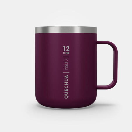 Hiker's camp isothermal Mug MH500 (double-skinned stainless) - 0.38 - purple