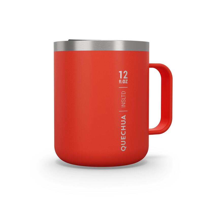 Isothermal Hiker's Camping Mug (stainless steel double wall) MH500 0.38 L Red