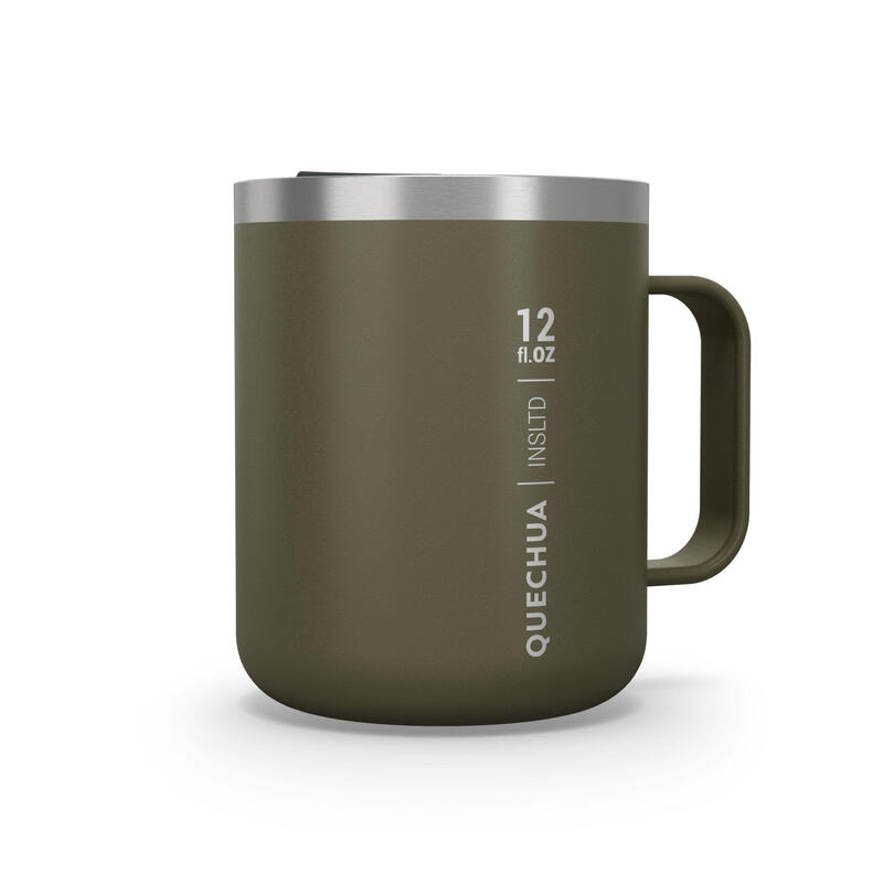 Isothermal Hiker's Camping Mug (stainless steel double wall) MH500 0.38 L Khaki
