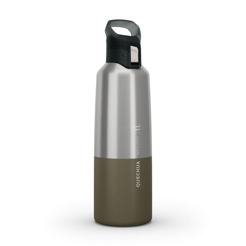 Isothermal Stainless Steel Hiking Flask MH500 1 L Khaki