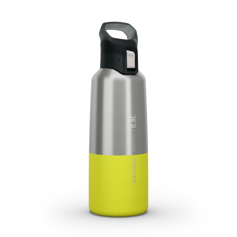 Isoleerfles voor wandelen en trekking MH500 roestvrij staal 0,8 l geel