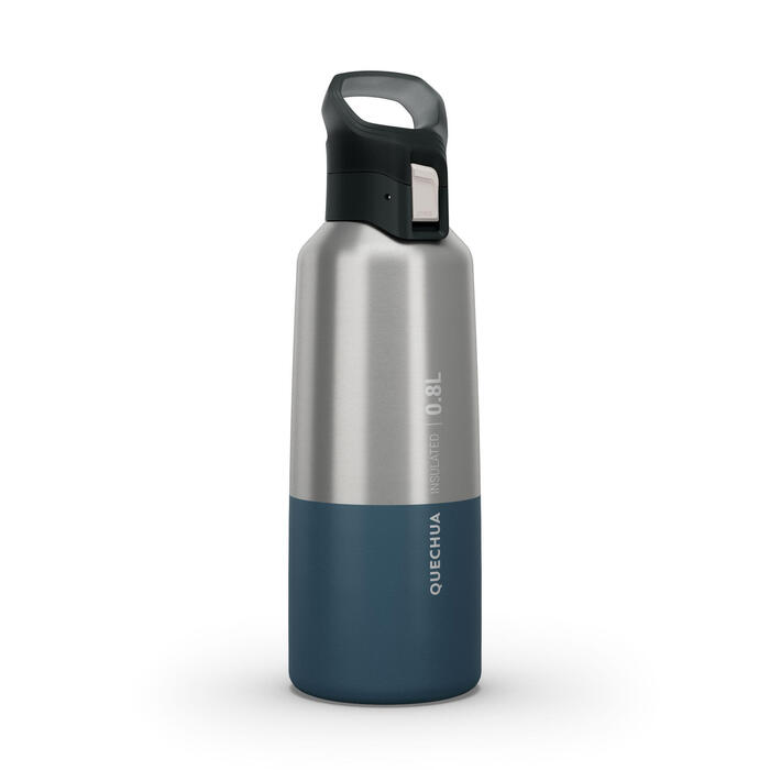 Insulated Stainless Steel Hiking Flask MH500 0.8L - Blue
